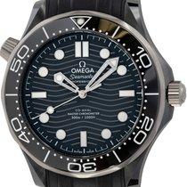 Omega Ceramic Black 44mm pre-owned Seamaster Diver 300 M