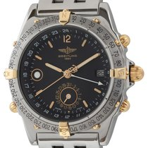 Breitling Duograph pre-owned 40mm Black Date Weekday GMT Steel