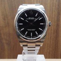 Rolex Ocel Automatika Černá Bez čísel 39mm použité Oyster Perpetual 39