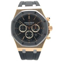 Audemars Piguet Royal Oak Chronograph Oro rosa 41mm Gris Sin cifras