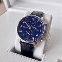IWC Portugieser Chronograph Stahl 41mm Blau Arabisch Deutschland, Grossenkneten