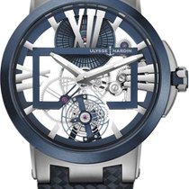 Ulysse Nardin Executive Skeleton Tourbillon Titanium 45mm Transparent Roman numerals