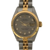 Rolex Lady-Datejust pre-owned 26mm Grey Date Gold/Steel
