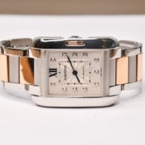 Cartier Tank Anglaise Gold/Stahl 30mm Silber