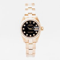 Rolex Lady-Datejust Yellow gold 26mm Black No numerals United Kingdom, Guildford,Surrey