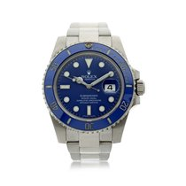 Rolex White gold Automatic Blue 40mm Submariner Date