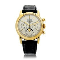 Patek Philippe Perpetual Calendar Chronograph Yellow gold Silver United States of America, New York