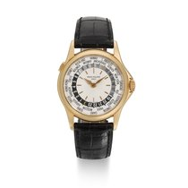 Patek Philippe World Time Rose gold 37mm Silver United States of America, New York