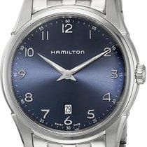 Hamilton Jazzmaster Thinline Acier 42mm Bleu Arabes