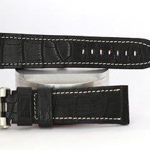 Panerai Parts/Accessories new Crocodile skin Black