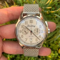 Breitling Transocean Chronograph 1915 Steel 43mm Silver Arabic numerals United States of America, California, Los Angeles