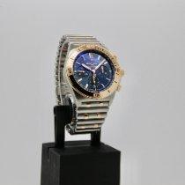 Breitling Chronomat Золото/Cталь 42mm Синий Без цифр
