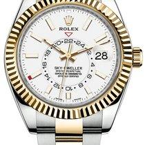 Rolex Sky-Dweller Χρυσός / Ατσάλι 42mm Άσπρο Xωρίς ψηφία Ελλάδα, iraklio