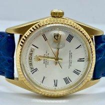 Rolex Day-Date 36 Oro amarillo 36mm Plata Romanos