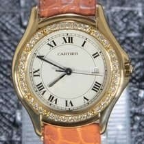 Cartier Cougar 887905 Very good Yellow gold 33mm Quartz
