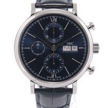 IWC Portofino Chronograph Acier 42mm Bleu