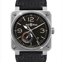 Bell & Ross BR 03-97 Réserve de Marche pre-owned 42mm Black Date Leather