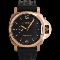 Panerai Red gold Automatic Black 44mm pre-owned Luminor Marina 1950 3 Days Automatic