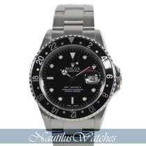 Rolex GMT-Master II Acier 40mm Noir Sans chiffres