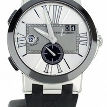 Ulysse Nardin Executive Dual Time Steel 43mm Silver United States of America, Illinois, BUFFALO GROVE