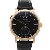 A. Lange & Söhne Saxonia Rose gold 40mm Black