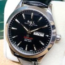 Ball Engineer II pre-owned 43mm Black Date Weekday Leather