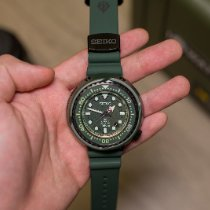 精工 Prospex 鋼 52.4mm 綠色 無數字