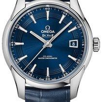 Omega De Ville Hour Vision usados 41mm Azul Fecha Piel