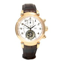IWC Da Vinci Chronograph Красное золото 44mm Cеребро Aрабские
