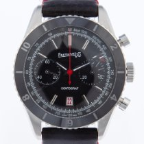 Eberhard & Co. Contograf Steel 43mm Black No numerals