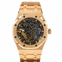 Audemars Piguet Royal Oak Double Balance Wheel Openworked Or rose 41mm Transparent Sans chiffres