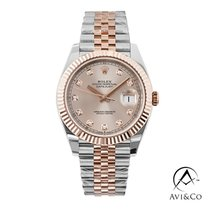 Rolex Datejust II Steel 41mm Pink No numerals United States of America, New York, New York