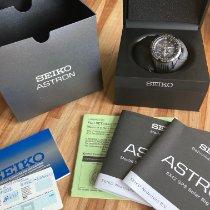 Seiko Astron GPS Solar Chronograph Steel Black