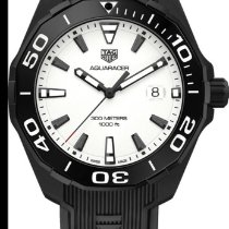 TAG Heuer Titanium Quartz White No numerals 43mm new Aquaracer