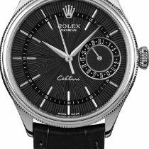 Rolex Cellini Date White gold 39mm Black No numerals