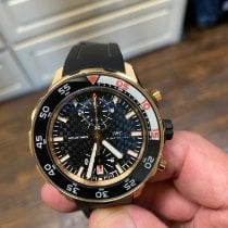 IWC Rose gold Automatic Black No numerals 44mm pre-owned Aquatimer Chronograph