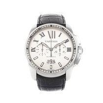 Cartier Calibre de Cartier Chronograph Steel 42mm Silver Roman numerals United States of America, Pennsylvania, Bala Cynwyd