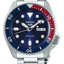 Seiko 5 Sports Stahl 43mm Blau Deutschland, Simmerath