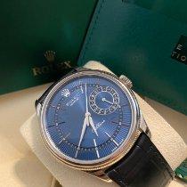 Rolex Cellini Date Fehérarany 39mm Kék Számjegyek nélkül