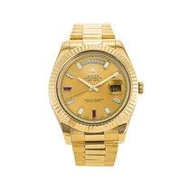 Rolex Day-Date II Yellow gold 41mm Gold Roman numerals UAE, Dubai