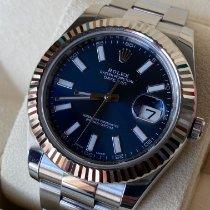 Rolex Datejust II Acier 41mm Bleu Sans chiffres France, ecouflant