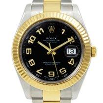 Rolex Datejust II Or/Acier 41mm Noir Arabes