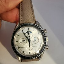 Omega Or blanc Remontage manuel Blanc 42mm occasion Speedmaster Professional Moonwatch Moonphase