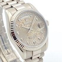Rolex Day-Date 36 Or blanc 36mm Gris Sans chiffres