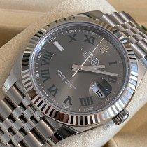 Rolex Datejust Acero 41mm Gris Romanos