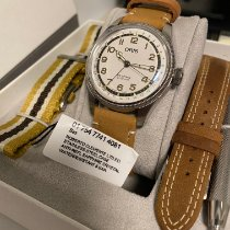 Oris Big Crown Pointer Date pre-owned 40mm White Leather