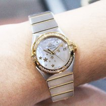 Omega Constellation Ladies 123.25.27.20.05.001 New Gold/Steel 36mm Automatic Malaysia
