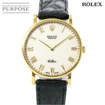 Rolex (ロレックス) Cellini イエローゴールド 32mm ホワイト 日本