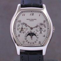 Patek Philippe Perpetual Calendar Or blanc 35mm Argent Arabes
