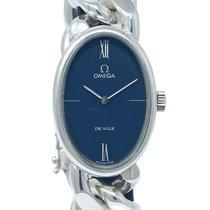 Omega De Ville Silber 32.92mm Blau Arabisch